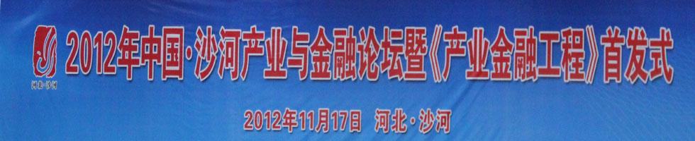 2012年中国.沙河产业与金融论坛暨《产业金融工程》首发式