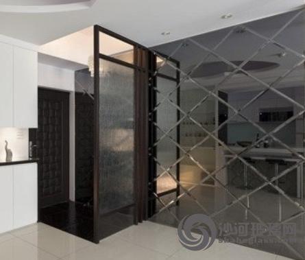 扬州玻璃装饰公司【庆亚】客厅茶镜,餐厅灰镜背景墙订做