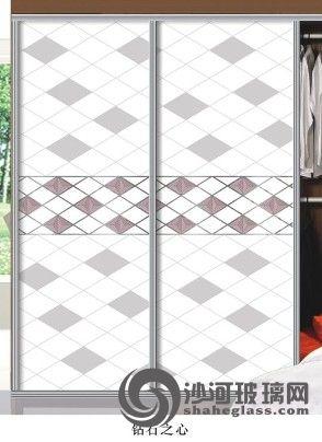 钻石之心 超白3d 衣柜门 隔断砂雕 长期供应艺术玻璃 装饰