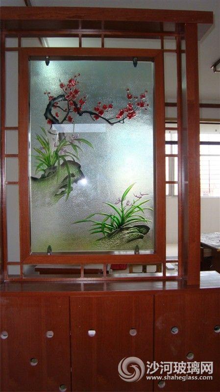 沙雕背景墙玄关刻花玻璃★装饰玻璃★刻花玻璃批发