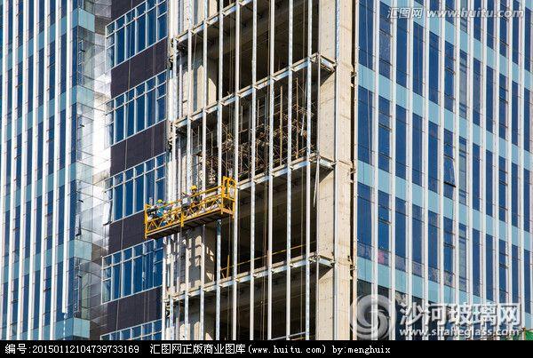 万达广场福清项目外墙玻璃-拆装维修项目