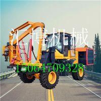 供应液压打桩机 HB-30波形高速公路护栏打桩机 生产厂家