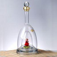 艺术造型酒瓶 高硼硅耐高温定制酒瓶 环保手工艺收藏酒瓶