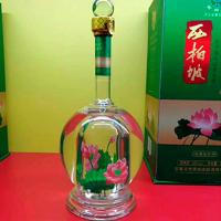 异形酒瓶|定制异形玻璃内置造型白酒瓶厂家