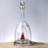 创意玻璃白酒瓶厂家生产私人订制异形内置造型手工艺白酒瓶