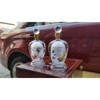 手工内画玻璃吹制酒瓶 精美手工艺定制造型瓶 河间耐热玻璃瓶