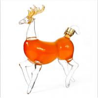 小鹿精美高档礼盒装 高硼硅吹制玻璃酒瓶 河间无铅泡酒瓶