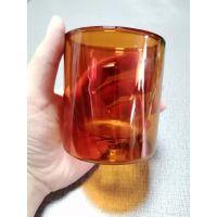玻璃双层杯 口水杯 保温杯咖啡 机制水杯人工高硼硅厂家定制杯