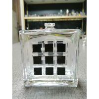玻璃香水瓶 网格分色可定制30ml电镀喷漆现货供应高端香水瓶