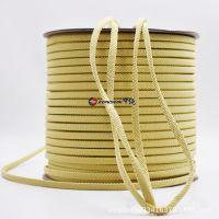 1414耐高温绳10MM黄扁形抗腐蚀浸泡抗拉绳子耐磨耗芳纶绳