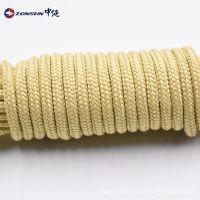 耐高温工业吊绳强力凯夫拉纤维芳纶绳耐切割抗化学腐蚀耐磨绝缘绳