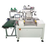 化妆镜玻璃丝印机玻璃胶水全自动印刷机